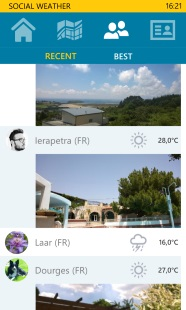 Social Weather, share your weather 3