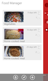 Food Manager for Windows Phone 1