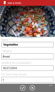 Food Manager for Windows Phone 2