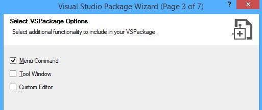 Visual Studio Package Wizard