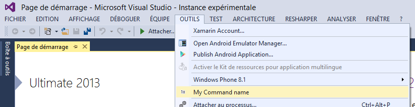 instance experimental de visual studio